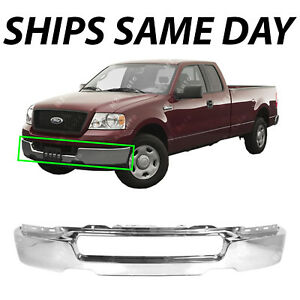 New Chrome Steel Front Bumper Face Bar Shell For 2004 2006 Ford F150 F 150 Truck