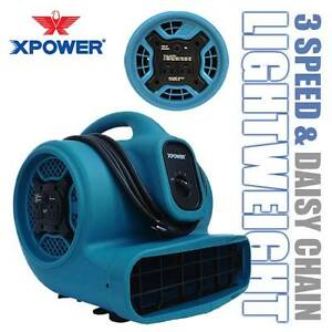 Xpower X 400a 1600 Cfm 1 4 Hp Air Mover Blower Carpet Dryer Floor Fan W Outlets
