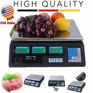 New 40kg Digital Weight Food Scales Count Scale Price Computing Retail Scale Hm