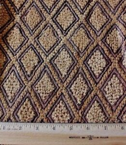 Antique African Congo Tribal Kuba Cloth Fabric Handwoven Ethnic Design 16 Sq