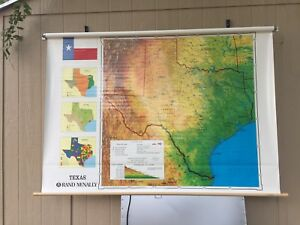Rand Mcnally School Classroom Map Simplified Political Texas Map
