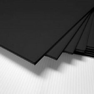 4 Pack 4mm Black 48 X 24 Horizontal Corrugated Plastic Coroplast Sheets Sign