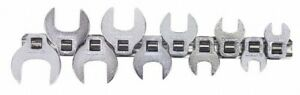 Blackhawk By Proto 10 Piece 3 8 Drive Open End Crowfoot Wrench Set 10 To 2