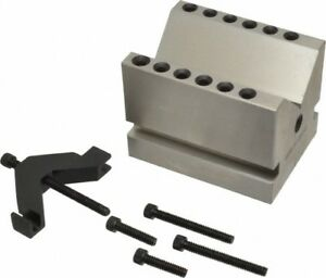 Spi 2 3 8 Max Capacity 90 deg Angle Hardened Steel V block 3 Long X 4 W
