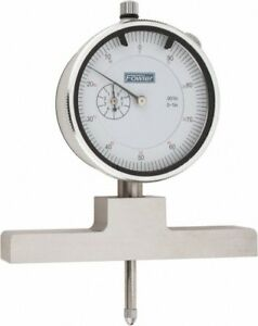 Fowler 0 To 22 Inch Range Steel White Dial Depth Gage 0 001 Inch Graduation
