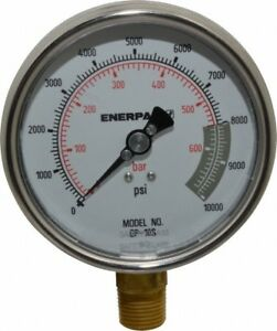 Enerpac 0 To 10 000 Psi Pressure Rating 1 2 Nptf Gauge Connection Hydraulic