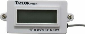 Taylor 1 5 Input Voltage 40 To 300 deg f Lcd Digital Panel Thermometer 0