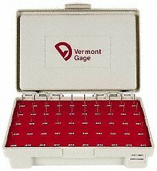Vermont Gage 50 Piece 0 011 0 06 Inch Diameter Plug And Pin Gage Set Plus 0