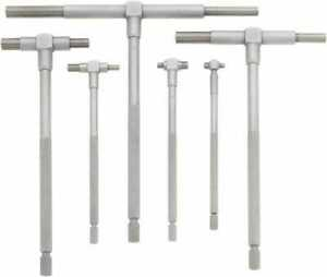 Mitutoyo 6 Piece 5 16 To 6 Inch Satin Chrome Finish Telescoping Gage Set I