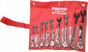 Proto 9 Piece 9 32 To 3 4 12 Point Combination Wrench Set Inch Measurement