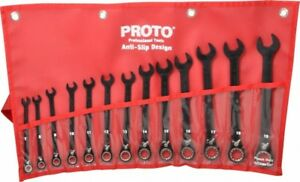 Proto 13 Piece 7 To 19mm 12 Point Combination Wrench Set Metric Measurement