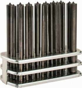Spellmaco 28 Piece Transfer Punch Set 3 32 To 17 32 Round Shank Comes In Stand