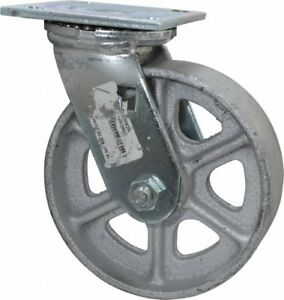 Albion 6 Inch Diameter X 2 Inch Wide Swivel Caster With Top Plate Mount 7 1