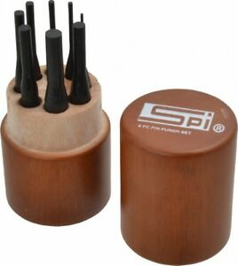 Spi 8 Piece 1 16 To 5 16 Pin Punch Set Round Shank Comes In Custom Wood Case