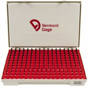 Vermont Gage 190 Piece 0 061 0 25 Inch Diameter Plug And Pin Gage Set Plus 0