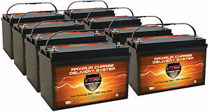 Qty8 Slr125 12v 125ah Solar Agm Sla Batteries Deep Cycle Vrla Heavy Duty Agm