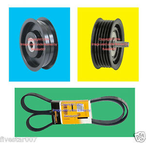 Drive Belt 2 Oem Idler Pulley Kit With Bearing Not For Tensioner For Mercedes