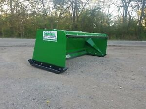 6 Low Pro Pullback John Deere Quick Attach Snow Pusher Box Free Shipping