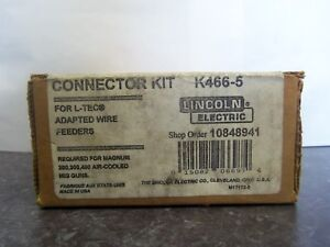 New Magnum Lincoln Electric K466 5 Connector Kit For L tec Adapted Wire Feeders
