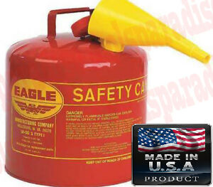 5g Gasoline Gas Flammable Liquid Galvanized Steel Safety Can Tank Fuel Storage