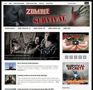 Zombie Survival Blog Website Business For Sale W Daily Auto Content