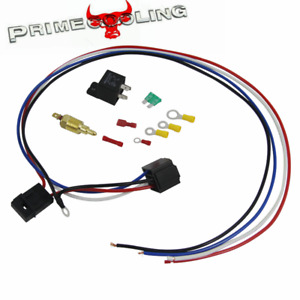 Electric Cooling Thermostat Fan Sensor Temperature Switch Wiring Relay Kits