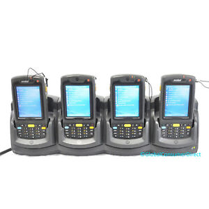 Lot Of 4x Motorola Mc75 Mc7596 pycsurwa9wr 1d Barcode Scanner Gps Gsm cradle