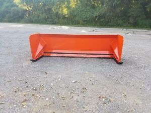 8 Kubota Orange Skid Steer Standard Snow Pusher Box Free Shipping Bobcat Case