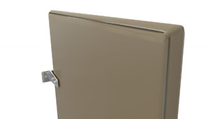 Powder Coated Urinal Stall Partition Divider Screen With Wall Hung Mounting Brac
