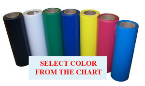 5rolls Pack 15 x3ft Heat Transfer Premium Pu Vinyl For Nylon leather press cutte