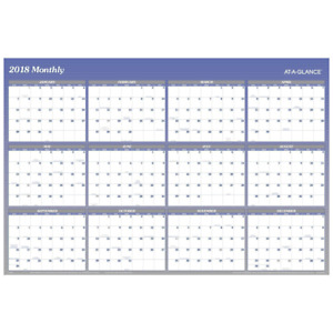 At a glance Yearly Wall Planner January 2018 December 2018 48 X 32 Vertic