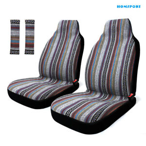 Colorfull Baja Car Front Seat Cover Set seat Belt Covers Universal For Cars