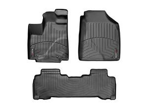 Weathertech Floor Mats Floorliner For Acura Mdx Honda Pilot 1st 2nd Row Black