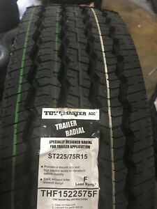 1 New St225 75r15 Tow master All Steel Trailer Tire 225 75 15 2257515 12 Ply Lrf