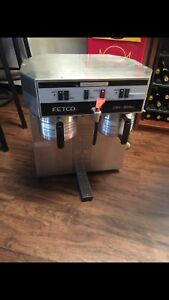 Fetco Cbs 32aap Twin Dual Automatic Brewing Airpot Coffee Brewer Machine Hot Wat