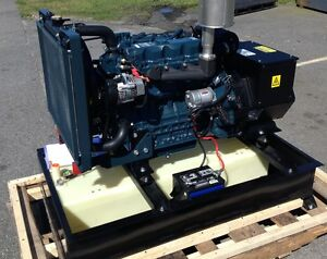 20 Kw Diesel Generator Kubota 25 Gallon Base Tank Included Stationary Use