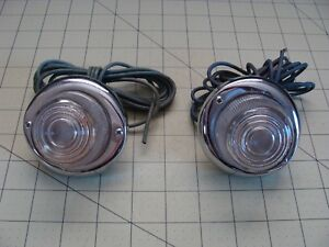 Vintage Clear Glass Indicator Lights Auto
