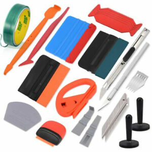 Pro Car Vinyl Wrap Tools Kit For Window Tint Install Felt Squeegee 2 Magnets Usa