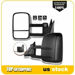 Manual Fold Extend Tow For 88 98 Chevy Gmc C K 1500 2500 3500 Side Mirrors Pair
