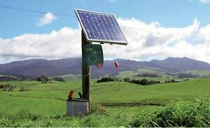 Electric Fence Energizezr Charger 30w Solar Panel Controller Farm Livestock