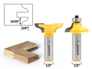Medium Ogee Entry Door Profile Router Bit Set 1 2 Shank Yonico 12223