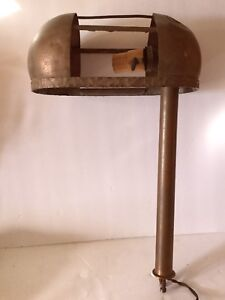 Antique Copper Lamp For Parts Or Re Wiring Industrial Steampunk