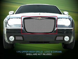 Main Upper Stainless Steel Mesh Grille Grill Upper For 05 10 Chrysler 300