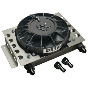 Derale Transmission Oil Cooler 15850 Atomic cool 12 750 15 Row Aluminum Remote