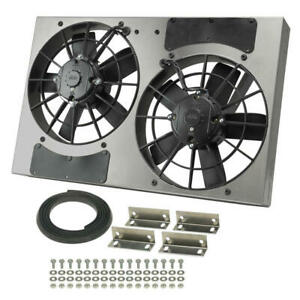 Derale Cooling Fan Assembly 16831 High Output Rad Shrouded 2x11 Dual Electric