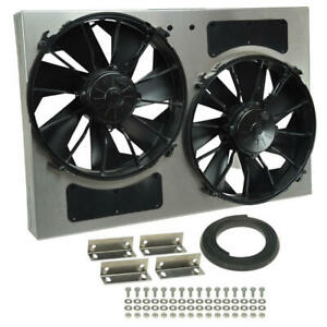 Derale Cooling Fan Assembly 16826 High Output Rad Shrouded 2x12 Dual Electric