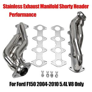 Performance Stainless Exhaust Manifold Shorty Header For Ford F150 04 10 5 4l V8