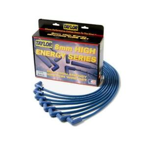 Taylor Spark Plug Wire Set 64666 High Energy 8mm Blue For Ford 6 Cylinder