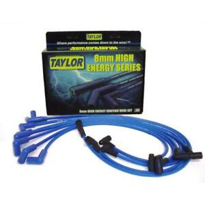 Taylor Spark Plug Wire Set 64617 High Energy 8mm Blue 90 For Chevy V8