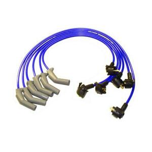 Taylor Spark Plug Wire Set 84669 Thundervolt 8 2mm Blue For Ford 6 Cylinder